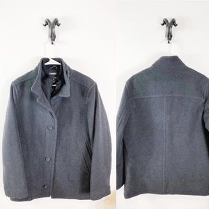 Perry Ellis Portfolio Cashmere Coat Size Small